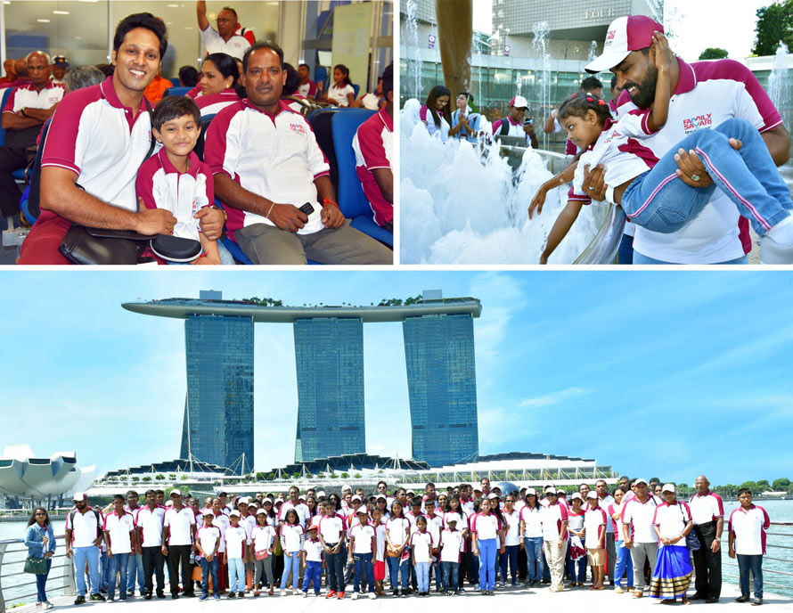 Ceylinco Life s Family Savari winners enjoy 12th Singapore tour hosted by Company