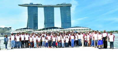 Ceylinco Life's Family Savari winners enjoy 12th Singapore tour hosted by Company